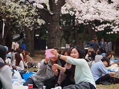 Yoyogi Park (lunaflorencia) Tags: travel girl japan tokyo picnic sakura hanami selfie