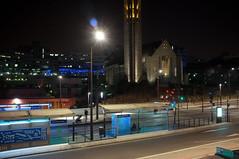 H RD 3 (M.Pat) Tags: longexposure paris by night t3 tramway poselongue hpitalrobertdebr fujix100 porteduprsaintgervais