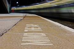 Mind the step (Will Pardoe) Tags: station train moving movement long exposure tracks move