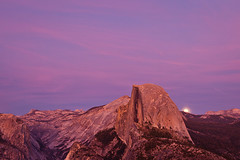 Moon Rise by Half Dome (Jeff Sullivan (www.JeffSullivanPhotography.com)) Tags: yosemite national park sunset full moon rise glacier point half dome california usa nature landscape photography canon 5dmarkii road trip photo copyright 2012 jeff sullivan luna yose caliparks photomatixpro