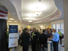 Held at Flagstar Bank in Troy, Morning Mingle is an opportunity for Chamber members to network before heading to the office.