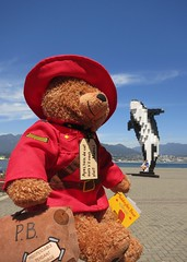 Paddington's Canadian Cousin and the Digital Orca (Ruth and Dave) Tags: bear stuffedtoy art statue vancouver toy uniform teddy canadian stuffedanimal rcmp killerwhale mountie cuddlytoy paddingtonbear stuffie vancouverconventioncentre digitalorca douglascouplan