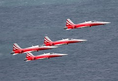Patrouille Suisse   -  Swiss Air Force Dispaly Team                         Northrop F-5E Tiger II (Flame1958) Tags: bray 2015 patrouillesuisse 0715 northropf5 swissairforce swissmilitary northropf5etigerii brayairdisplay brayairshow 170715 northropf5e swissaf switzerlandaf swissairforcedispalyteam f5tiger11