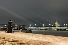 Winter morning - Зимнее утро (Valery Parshin) Tags: russia stpetersburg saintpetersburg canoneos600d canonef40mmf28stm valeryparshin vasilyevskyisland morning river neva snow ice bridge light pier