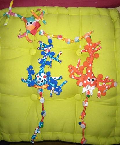 Neurones pyramidaux avec boutons présynaptiques et épines dendritiques.