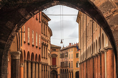 Shades of the Red City III (Pietro Faccioli) Tags: ancient arcades arch architecture bologna building city clouds cloudy colour columns downtown emilia emiliaromagna historic historical italy landmark oldtown panorama portici red road shade shadow sky street town urban windows pietrofaccioli faccioli pietro