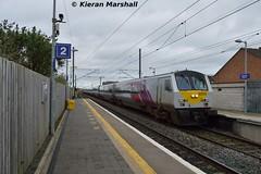 9004 passes Malahide, 18/3/17 (hurricanemk1c) Tags: railways railway train trains irish rail irishrail iarnród éireann iarnródéireann 2017 enterprise northernirelandrailways nir dedietrich 9004 malahide