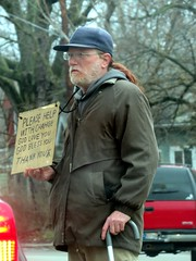 IMG_8060 (kennethkonica) Tags: canonpowershot canon global random hoosiers outdoor talking candid street streetphotography marioncounty midwest america usa indiana indianapolis indy hat people persons beg beggar panhandler cane sign city