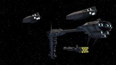 Rebel Fleet (BarricadeCaptures) Tags: star wars dark forces mission ii talay tak base after massacre cutscene rebel fleet nebulon b frigate corellian corvette gr75 medium transport game screenshot screencap