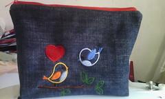 Love (leonilde_bernardes) Tags: bag love pochete presente amor amour gift handmade handcraft artesanato ganga jeans bordado