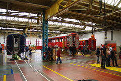 IMGP7769 (Alvier) Tags: schweiz graubünden rhb rhätischebahn landquart hauptwerkstätte tagderoffenentür triebfahrzeuge lokomotiven taufe triebzüge