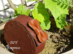 How to make vintage leather DIY earbud case 22 (DIY Empress) Tags: leather diy inspiration earbud earphones fashion reuse leatherdiy creativity idea howto tutorial organize accessories phone tanglefree earphonestorage usb easy cute giftsforhim gifts gift love