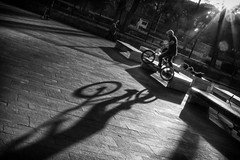 BMX Practice (Stefano Avolio) Tags: bike bmx practice esercitazioni pratica esercizio biancoenero bianconero bw blackwhite blackandwhite stefanoavolio bici ombra shadow contrasto contrast backlight controluce