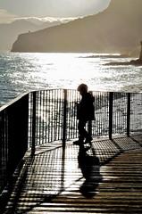 Child (Pier Romano) Tags: child bambino bimbo silouette sole sun mare sea passerella controluce tramonto sunset caposandonato finale ligure riviera liguria italia italy nikon d5100