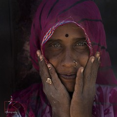 Woman's eyes (fabio6065) Tags: fabiomarcatophotography woman portrait rajasthan wwwfabiomarcatocom travelphotography travelphotos colors