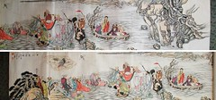 06-Zhang Daqian 18 Luohan Disciples Appointed to Witness to Buddhist Truth handscroll 張大千作十八羅漢圖手卷