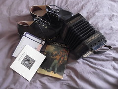 26th March 2017 (themostinept) Tags: concertina angloconcerina lachenalconcertina cds albums music stickinthewheel cunningfolk clogs book penguinbookofenglishfolksongs