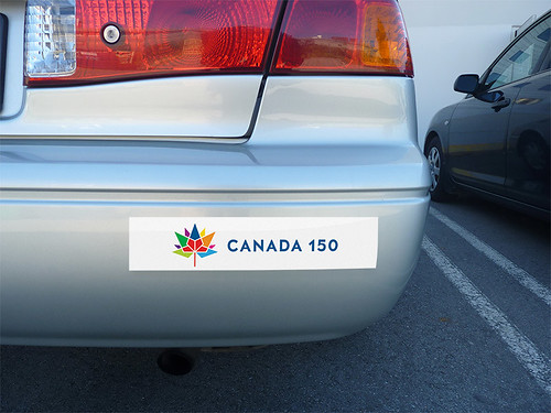 Canada 150 White Bumper Stickers