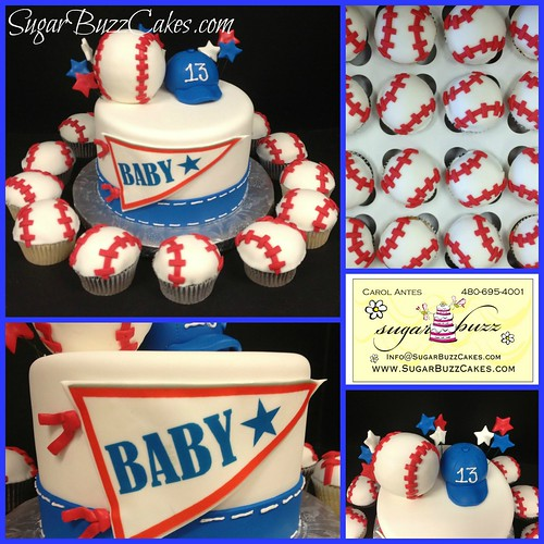 Baseball Baby Shower Cake A Photo On Flickriver
