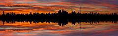 Soundscape (roymondus) Tags: panorama toronto silhouette skyline cntower wave sound beat