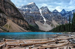 Morraine Lake Blue (Jeff Clow) Tags: lake nature landscape albertacanada banffnationalpark morainelake canadianrockies tpslandscape
