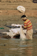 one place where men do the washing (lethologically) Tags: people india heritage history tourism water sunrise buildings river temple boat asia buddha religion silk places blessing holy varanasi ritual hindu hinduism oldcity ganges sarnath riverbanks ghat holywater northindia historicalsites oldcities heritagesites incredibleindia