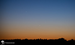 "Jupiter, Venus, Mercury ""Grand Conjunction"" (May 23, 2013) (The Uprooted Photographer) Tags: sunset sky night venus mercury 300mm planets jupiter may23 conjunction whatsinthesky grandconjunction"