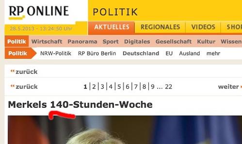 """Merkels 140-Sunden-Woche - hat sie echt nur 4 Stunden dienstfrei pro Tag? • <a style=""""font-size:0.8em;"""" href=""""http://www.flickr.com/photos/77921292@N07/8865987680/"""" target=""""_blank"""">View on Flickr</a>"""