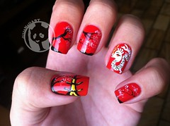 Chinese Dragon (Julia Bergamin) Tags: art rouge 1 dragon 10 nail chinese vermelho poppy chines seconde drago bourjois importado