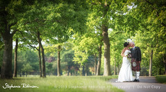 Alone at last... (Stephanie Robinson Photography) Tags: trees wedding groom bride path marriage mere knutsford