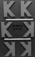 MLN070 (Chocolate Concepts) Tags: k chocolate letters number numbers letter mold