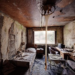 It has gotten hot in here (jrej www.gregoirec.com) Tags: abandoned canon hotel room dri urbex 5dmarkii tse17mmf4l