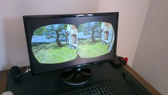 Oculus Rift VR screen view