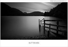 Late Night Buttermere 1 Mono (Stuart Leche) Tags: longexposure trees sunset lake mountains monochrome fence landscape mono blackwhite scenery dusk lakedistrict scenic le cumbria buttermere leefilters canon5dmkiii bigstopper canon1635f28iilusm