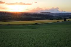 Sunset over Duckmanton (GarySOYO) Tags: sunset summer sky colour mood bright fields romantic bold