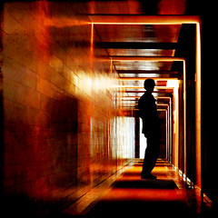 so the darkness shall be the light (1crzqbn) Tags: portrait color texture silhouette reflections square shadows hallway 7d hss monasteriosanjuandelapeña 1crzqbn sliderssunday sothedarknessshallbethelight