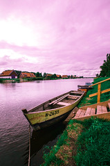 One way (Ell@neese) Tags: light red sky lake water beautiful stairs harbor boat pentax 365 lithuania 1024mm