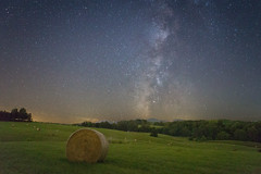 Small Town Lights (Andrew Rhodes Photography) Tags: longexposure night stars virginia nightshot clear astrophotography highiso milkyway reallyrightstuff delaplane rrs gitzotripod baleofhay bh55 canon6d