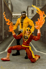 Heroes For Hire_0002_sig (Fadde Photography) Tags: comics iron action luke cage fist figure backdrop heroes marvel hire powerman ironfist