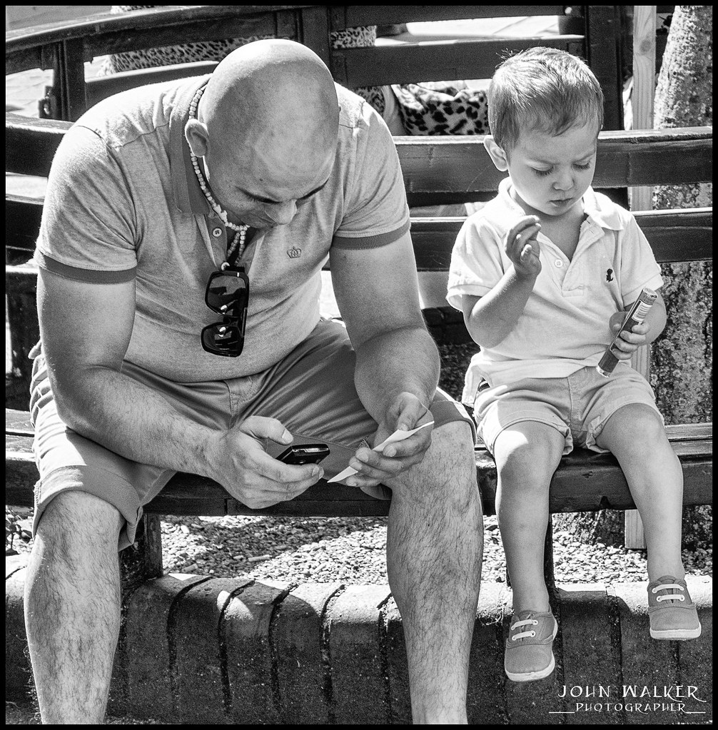 Father And Child D John Walker Lrps Tags City Sun Mobile Bench Kid