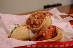 tacos (stu_spivack) Tags: sanfrancisco california food unitedstates pork mexican taco cabeza chorizo lataqueria eyefi
