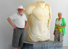 Hugh and Lily (RobW_) Tags: high ancient lily september greece tuesday olympia torso marble ilia peloponnese 2013 sep2013 17sep2013
