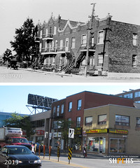 JeanTalon at Durocher (1920s & 2013) (SHPEHS) Tags: 1920s beforeandafter parkextension builtheritage jeantalonouest