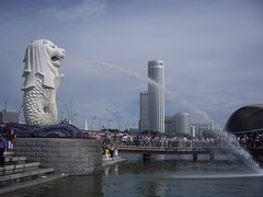 Merlion & Marina Park (Bootnecks) Tags: singapore marinapark marinabay merlionpark singaporemerlion