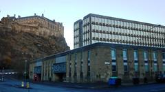Argyle House, Edinburgh I (Twizzer88) Tags: uk greatbritain architecture contrast concrete scotland edinburgh edinburghcastle unitedkingdom fort britain hill modernism juxtaposition modernist lothian oldandnew caslte