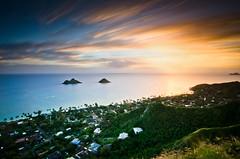Sunrise Hike (justinn17) Tags: ocean longexposure blue sunset orange green beach sunrise landscape hawaii islands nikon long exposure angle oahu 10 wide tokina nd density stops neutral 1116 pillboxes d7000