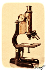 Microscope (gwhiteway) Tags: old white canada macro glass metal vintage newfoundland lens education lab technology antique object experiment optical stjohns science historic retro equipment medical pharmacy health research crime laboratory instrument 1750 medicine tamron microscopic discovery genetic biology microscope bacteria germ virus microbiology isolated enlarge magnify ocular biotechnology obsolete eyepiece optics scientific investigation forensic magnification camera35