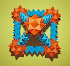 Rhombicuboctahedron Pyramid (mganans) Tags: origami polyhedron origamimodular tomokofuse equilateraltriangularunit