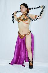 DSC_0357 (Studio5Graphics) Tags: hot sexy girl fun star starwars chains cool model nikon cosplay modeling wars cosplayer collar leia slave collared 2014