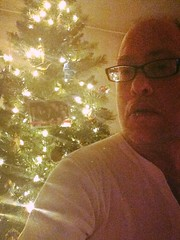 Day 726 - Day 361: The tree and me (knoopie) Tags: selfportrait me december doug christmastree sage year2 picturemail iphone knoop day361 365days 2013 knoopie 365more 365daysyear2 day726